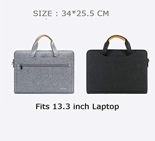 IMCHER Laptop Sleeve Compatible with MacBook 13.3 Air 13 inch M1 M 1 A2337 A2179 A1932, 13 inch New MacBook Pro 2020 M1 A2338 A2289 A2251 A2159 A1989 A1706 A1708, (Black, 13.3 inch)
