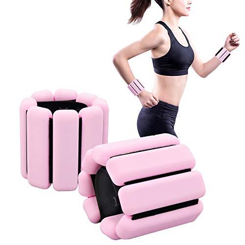 Ydshyth Tobillera de peso ajustable, en un par de peso de tobillo, 450 gramos por tobillo, para fortalecer el ejercicio, caminar, trotar, gimnasia.