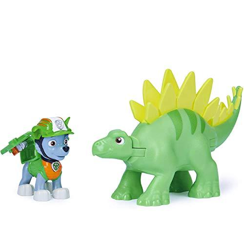 PAW PATROL Dino Rescue Ensemble de Figurines Rocky et Un Dinosaure pour Enfants à partir de 3 Ans