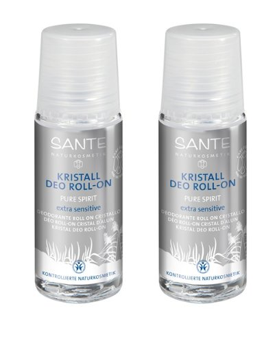 SANTE Kristall Deo Roll-on Pure Spirit 2er-Pack (bio, vegan, Naturkosm0etik) Deodorant (Roll-on x2)