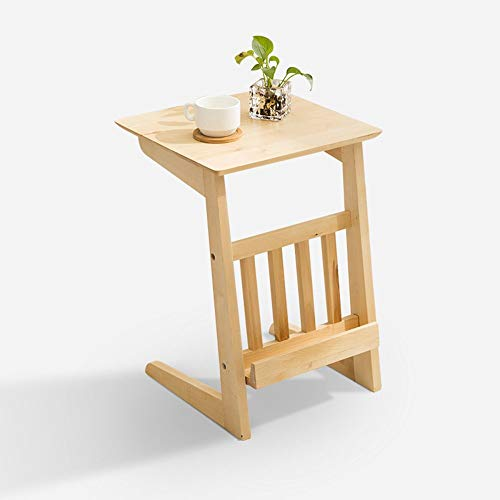 YAMEIJIA bijzettafel Massief hout veelzijdige creatieve salontafel vierkant, eenvoudig balkon tafel bank bijzettafel,zwart