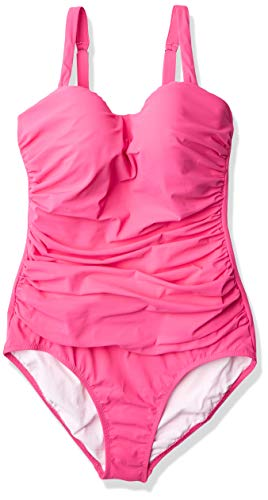 Profile by Gottex Women's Sweetheart Cup Sized One Piece Swimsuit, Tutti Frutti Pink, 10D