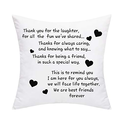 Yastouay We are Best Friends Forever Friends Throw Pillow Cover Best Gifts to Friends Sister Cushion Cover Decorative Pillowcase for Sofa Car Home Office 20 x 20 Inches