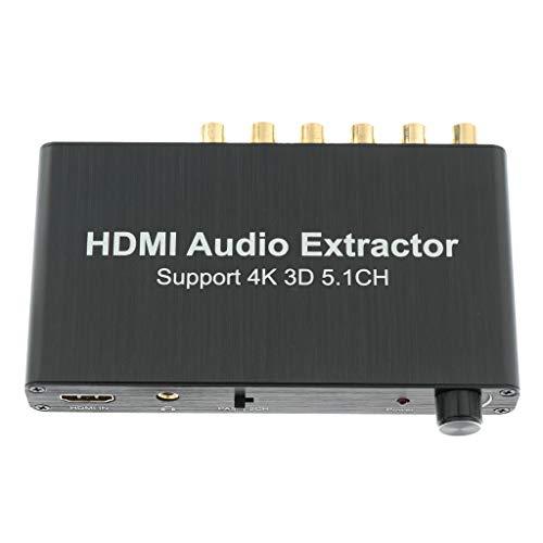 Shiwaki HDMI A La Caja del Adaptador del Extractor De Audio Analógico De 5.1 Canales, Compatible con Decodificación Dolby AC-3 / DTS