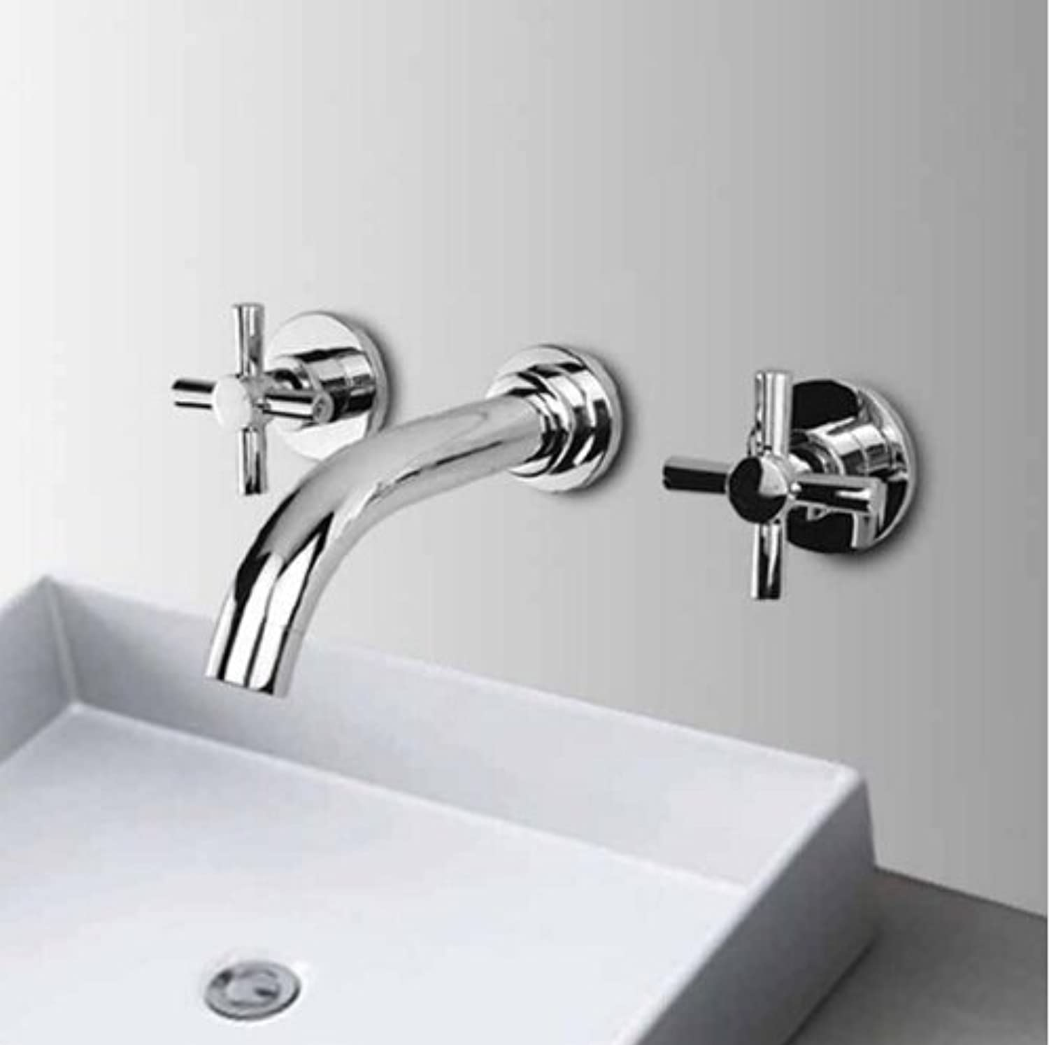 U-Enjoy Chrome Finished Brass Top Quality in-Wall Bathroom Sink Faucet Home Bathroom Kitchen Bathroom Sink Faucet (Free Shipping)