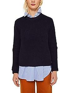 ESPRIT Damen 129Ee1I007 Pullover, Blau (Navy 400), Small (Herstellergröße:S)