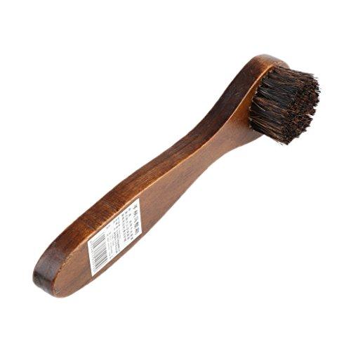 D DOLITY Langer Holzgriff Schuhbürste Schuhputz Bürste Schuhcreme-Bürste für Schuhe Pflege