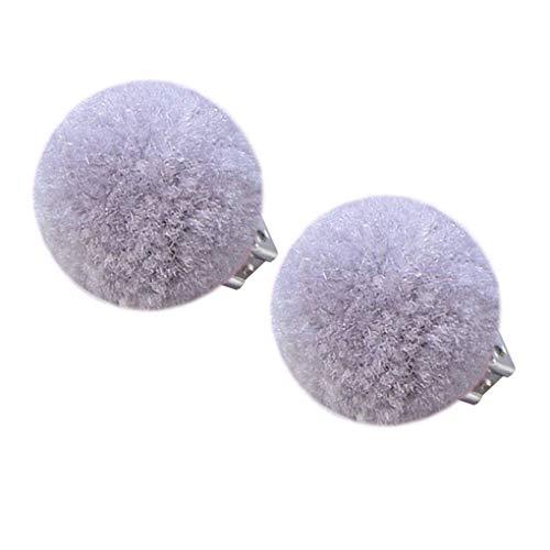 teng hong hui 1 par de Pom Pom niños oído Ninguna perforación Pendiente de Clip de la Felpa de la Bola Cabrito Niñas Clip Pendientes Sin joyería Piercing