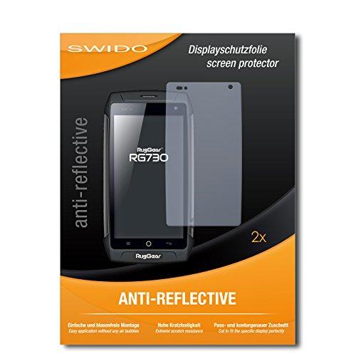 SWIDO Schutzfolie für Ruggear RG730 [2 Stück] Anti-Reflex MATT Entspiegelnd, Hoher Festigkeitgrad, Schutz vor Kratzer/Bildschirmschutz, Bildschirmschutzfolie, Panzerglas-Folie