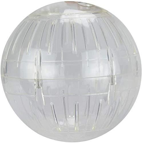 Voarge Running Ball Laufball für Nager, Hamster, Bewegung, Nagerspielzeug zum Laufen, Kunststoff, 14cm, transparent