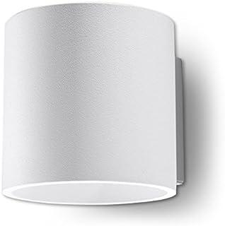 NOVEDAD! Aplique Blanco de cocina y habitación - aluminio - SOLLUX ORBIS 1 SL.0050 lámpara mural Loft redonda, estilo minimalista, de luz única LED G-9 *** LÁMPARAS - Los precios más bajos en Amazon!