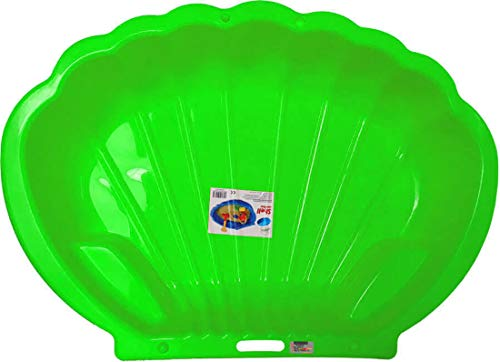 thorberg Sandbox - Sabbiera a forma di conchiglia, misura grande, 108 x 79 cm, XL, adatta per animali (verde)