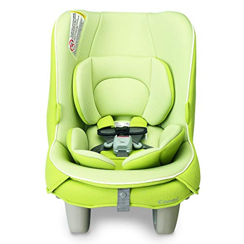 Combi Coccoro Streamlined Lightweight Convertible Car Seat | 3 Across in Most Vehicles| Ideal for Compacts| Quick Install | 50% Lighter Than Other Leading Brands| Tru-Safe Impact Protection| Key Lime