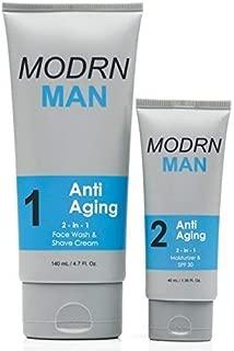 MODRN MAN Anti Aging Skin Care Set For Men | Ultimate Combination Men's Face Wash & Shaving Cream | Premium All-in-One Men's Anti Aging Moisturizer Cream with SPF 30