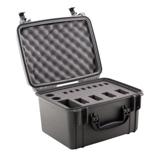 Seahorse SE-540 Quick Draw Case for 4 Handguns (Gun Metal)