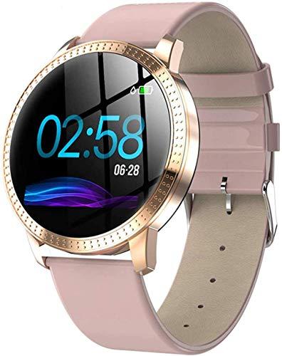 Reloj inteligente Full Touch IP68 impermeable para mujer, pantalla de ciclo menstrual, pulsera inteligente con frecuencia cardíaca, presión arterial, sueño para Android IOS SmartWatch (color: A)