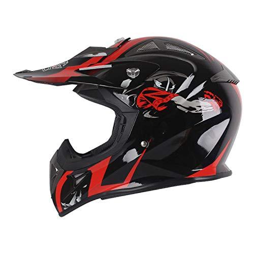 Casco de Motocross Casco de Moto Integral ECE Homologado Casco De Motocross...