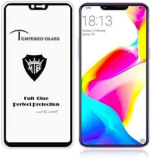 YINZHI Screen Protector Film, Full Screen Full Glue Anti-Fingerprint Tempered Glass Film for Oppo R15 (Black) Clear (Color : Black)