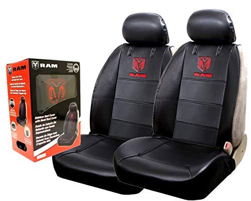 Power Parts Automotive GmbH kompatibel mit RAM Sitzbezug Sitzbezüge mit gesticktem Logo 2 Stück (Paar)
