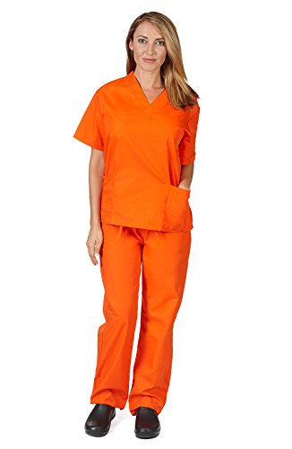 Top orange scrubs unisex for 2021