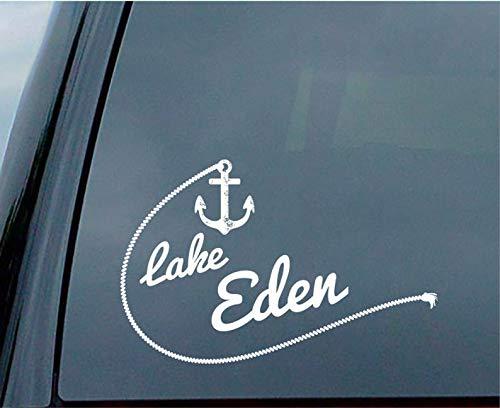 Lake Eden Sticker voor auto raam of laptop plaatsing