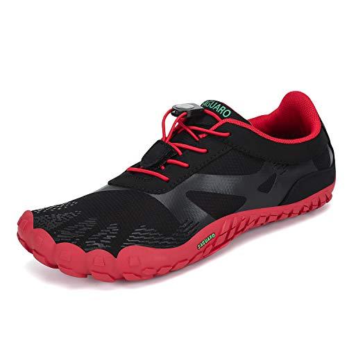 Men's Women's Minimalist Trail Runner Barefoot Shoe Walking Gym Running Outdoor Quick Dry Beach Swimming Aqua Sports Water Shoes Red