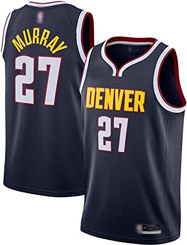 Ropa Jersey de Baloncesto al Aire Libre Jamal Denver No.27 Navy, Nuggets Murray 2020/21 Secado rápido Vestidos de Mangas Uniform- Icon Edition (Color : Navy, Size : L175-180CM)