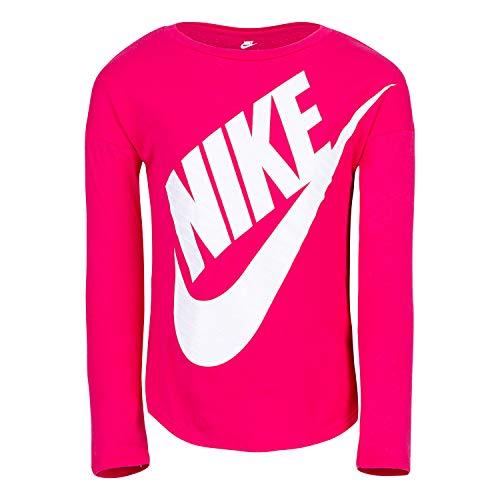 Nike Girls' Toddler Long Sleeve Sportswear Graphic T-Shirt, Rush Pink, 2T