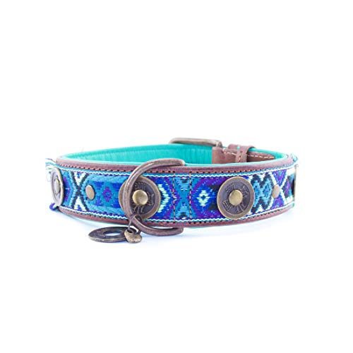 Leren Hondenhalsband met Kleurrijk Bohemian Design - Dog with a Mission Boho Juan - XXS tot XXL