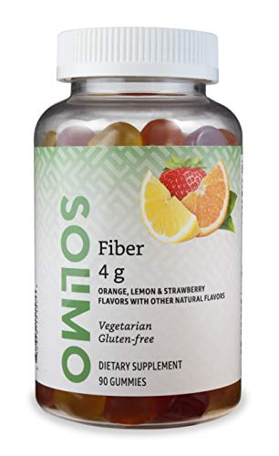 Amazon Brand - Solimo Fiber 4g - Digestive Health, Supports Regularity - 90 Gummies (2 Gummies per Serving)