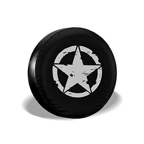 Kejbr Military Tactical Star Reserveradabdeckung Wasserdichter Staubschutz UV Sun Wheel Reserveradabdeckung Fit for Jeep,Trailer, RV, SUV and Many Vehicle 16 Inch
