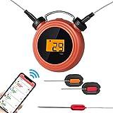 YILANS Termómetro para Barbacoas Termómetro Cocina Digital para Carne, Horno, Parrilla, Ahumador, con Pantalla LCD con App Bluetooth Dispositivos de Cocina Profesional