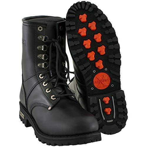 Xelement 1446 'Vigilant' Men's Black Logger Boots with Inside Zipper - 13