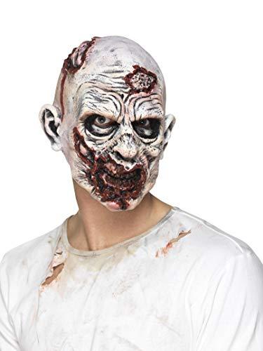Halloween! Smiffys Zombie-Maske, Mehrfarbig, Schaumlatex, komplette Kopfabdeckung