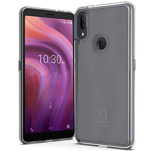 ZeKing Alcatel 3v 2019 Hülle, Anti-Scratch Crystal Clear with Four Corner Hard PC Shell und Soft TPU Bumper Cover Protective Hülle Compatible for Alcatel 3v (2019) (Transparent)