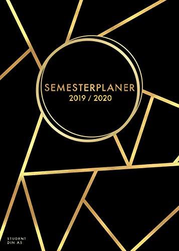 Semesterplaner 2019 - 2020 Din A5 Student: Uni-Kalender, Terminplaner und Timer von September 2019 bis Oktober 2020 - Semesterkalender, ... 2019 - 2020 (1 Woche auf 2 Seiten, Band 1)