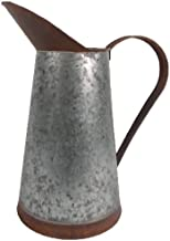 Craft Outlet Two Toned Tin Pitcher, 11-Inch