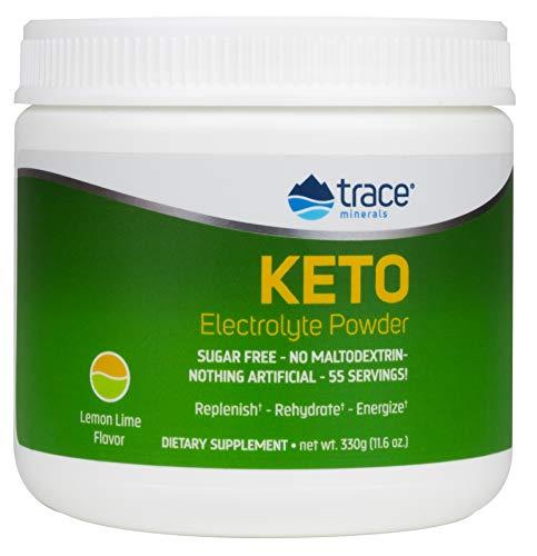 Trace Minerals Keto Electrolyte Powder, Lemon Lime - 330g