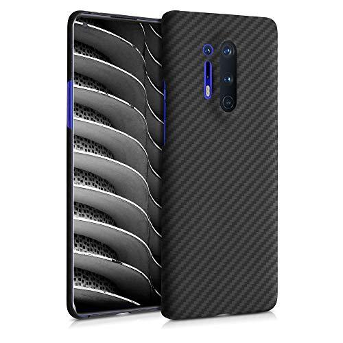 kalibri Schutzhülle kompatibel mit OnePlus 8 Pro - Hülle Aramid - Handy Cover Hülle Handyhülle Schwarz matt