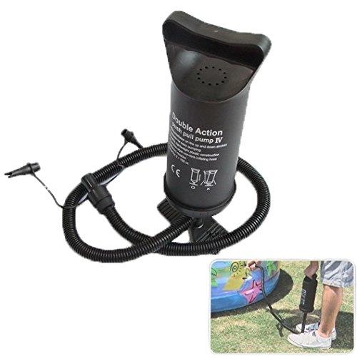 Handige luchtpomp, duwen met dubbele actie pomp voor luchtkussen, opblaasbaar speelgoed, zwemring, willekeurige kleur levering