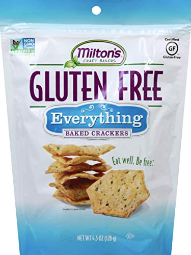 Milton's Gluten Free Crackers (Everything). Everything Bagel-Inspired Gluten-Free Grain Baked Crackers (Single Pack, 4.5 ounce)