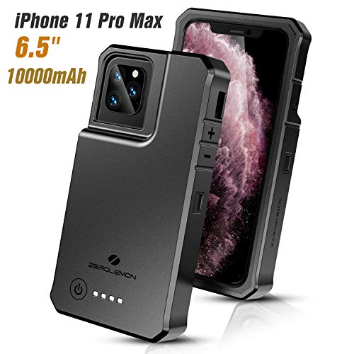 """ZEROLEMON iPhone 11 Pro Max Charging Battery Case, RuggedJuicer 10000mAh High Capacity Protective Charging Case [Lightning Headphone Support] for iPhone 11 Pro Max 6.5"""" 2019"""