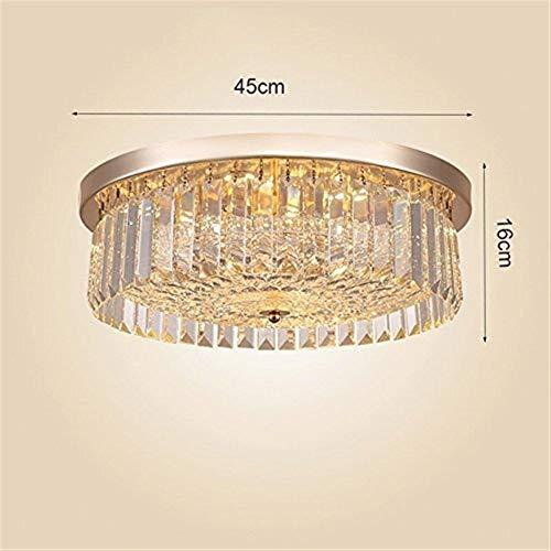Allamp Luces Pendientes, K9 Cristal Lámparas Modernas, Restaurante Europea Pasillo Pasillo Pasillo de Entrada de luz Ronda Oficina en casa (Color : 45 * 16cm)