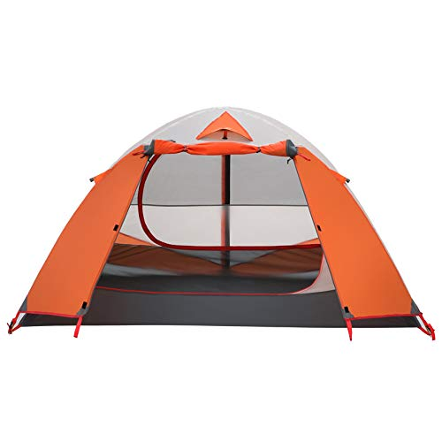 MOON LENCE Backpacking Tent 2 Person Camping Tent Double Layer Portable Outdoor Lightweight Tent Waterproof Wind Proof Anti-UV for Hiking Fishing Easy...