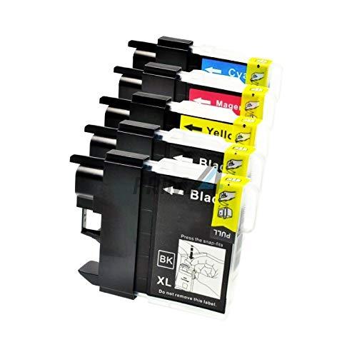 PrimA4 – LC-985 Kit 2 Negro + Colores Cartuchos Inkjet Compatible para Impresoras Brother DCPJ315W, MFCJ410, DCPJ125, J515W, MFCJ265W