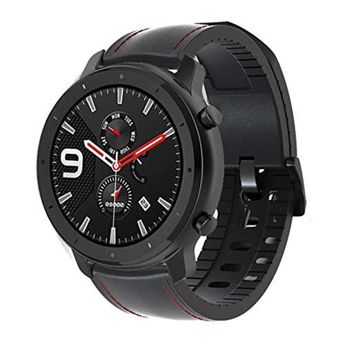 Pulsera de cuero para Amazfit GTR 47mm 42mm Correa de reloj para xiaomi huami GTR 2 Stratos2 2S 3 Smart Watch correa de muñeca