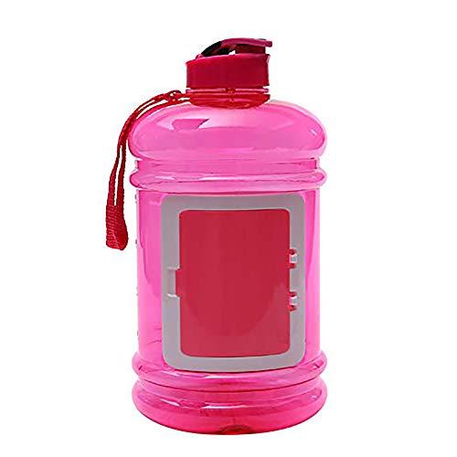 VOLORE Trinkflasche Sport 2.2L Wasserflasche Spülmaschinenfest Groß Sportflasche - Auslaufsicher, BPA Frei, Transparent, Praktisch - Große Drinkflasche für das Laufen, Fitness, Yoga, Im Freien -Rosa