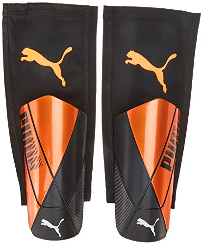 PUMA ftblNXT Pro Flex Sleeve Espinillera Futbol, Unisex-Adult, Shocking Orange Black White, XS