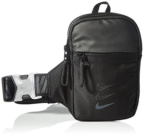NIKE Sportswear Essentials, Bolsillo para cinturón. Unisex Adulto, Negro/Negro/Gris Ahumado, Small