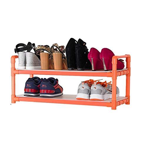 CYQ Zapatero Puerta de plástico Estante Impermeable Necesita ensamblar Naranja Mantener ordenado (Tamaño: 66 * 28 * 35 cm)